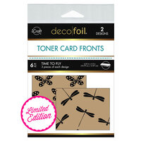 Therm O Web - Deco Foil - Kraft Toner Sheets - 4.25 x 5.5 - Time To Fly - 6 Pack