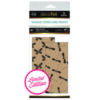 Therm O Web - Deco Foil - Kraft Toner Sheets - 4 x 9 - Time To Fly - 4 Pack