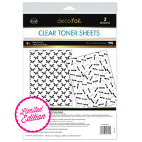Therm O Web - Deco Foil - Clear Toner Sheets - 8.5 x 11 - Time To Fly - 2 Pack