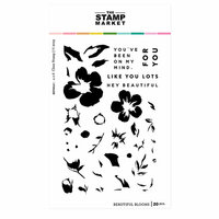The Stamp Market - Clear Photopolymer Stamps - Beautiful Blooms