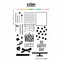 The Stamp Market - Clear Photopolymer Stamps - Birthday Wishes