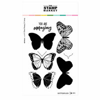The Stamp Market - Clear Photopolymer Stamps - Butterflies