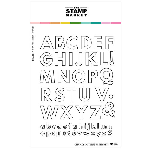 The Stamp Market - Clear Photopolymer Stamps - Chunky Outline