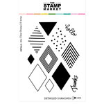 The Stamp Market - Clear Photopolymer Stamps - Detailed Diamonds