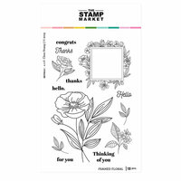 The Stamp Market - Clear Photopolymer Stamps - Framed Floral
