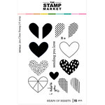 The Stamp Market - Clear Photopolymer Stamps - Heaps of Hearts
