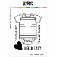 The Stamp Market - Clear Photopolymer Stamps - Hello Baby