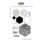 The Stamp Market - Clear Photopolymer Stamps - Hexagon Hello