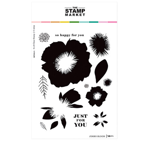 The Stamp Market - Clear Photopolymer Stamps - Jumbo Blooms