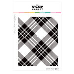 The Stamp Market - Clear Photopolymer Stamps - Jumbo Plaid Background