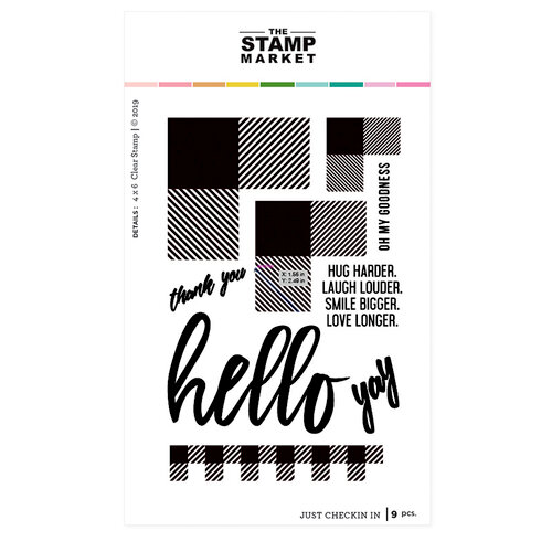 The Stamp Market - Clear Photopolymer Stamps - Just Checkin In