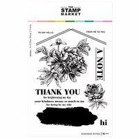 The Stamp Market - Clear Photopolymer Stamps - Kindness Noted