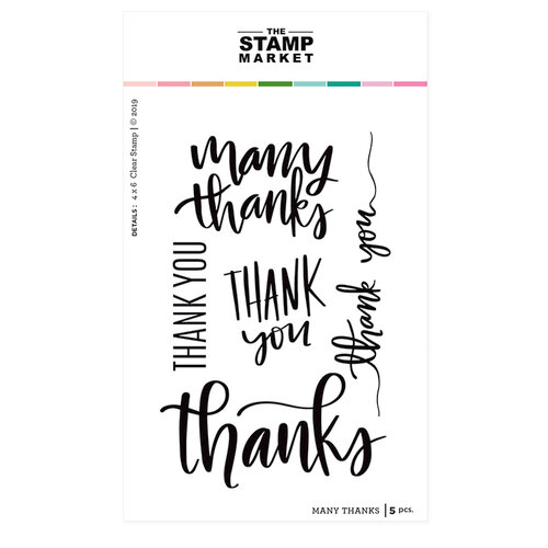 The Stamp Market - Clear Photopolymer Stamps - Many Thanks