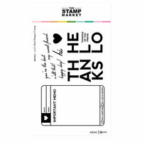The Stamp Market - Clear Photopolymer Stamps - Memo