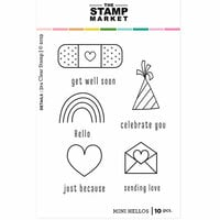 The Stamp Market - Clear Photopolymer Stamps - Mini Hellos