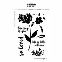 The Stamp Market - Clear Photopolymer Stamps - Painted Peony