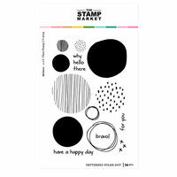 The Stamp Market - Clear Photopolymer Stamps - Patterned Polka Dot