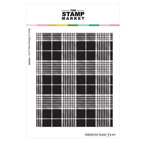 The Stamp Market - Clear Photopolymer Stamps - Perfectly Plaid Background