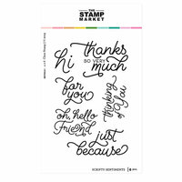 The Stamp Market - Clear Photopolymer Stamps - Scripty Sentiments
