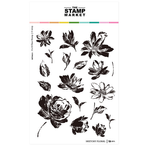 The Stamp Market - Clear Photopolymer Stamps - Sketchy Floral