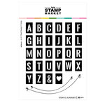 The Stamp Market - Clear Photopolymer Stamps - Stencil Alphabet