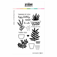 The Stamp Market - Clear Photopolymer Stamps - Succulent