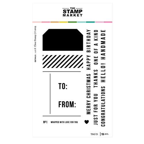 The Stamp Market - Clear Photopolymer Stamps - Tag