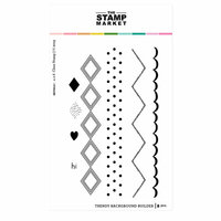 The Stamp Market - Clear Photopolymer Stamps - Trendy Background Builder