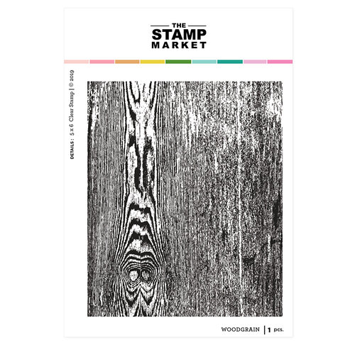 The Stamp Market - Clear Photopolymer Stamps - Woodgrain
