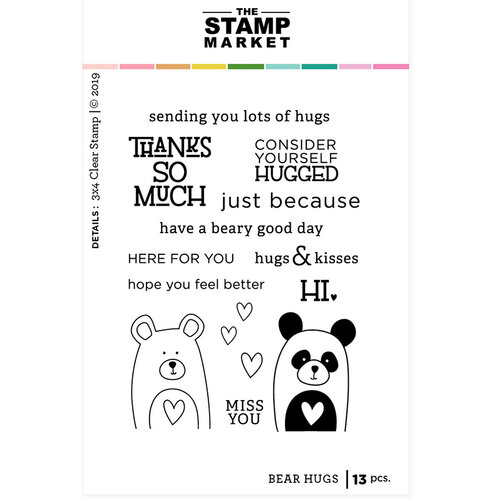 The Stamp Market - Clear Photopolymer Stamps - Bear Hugs