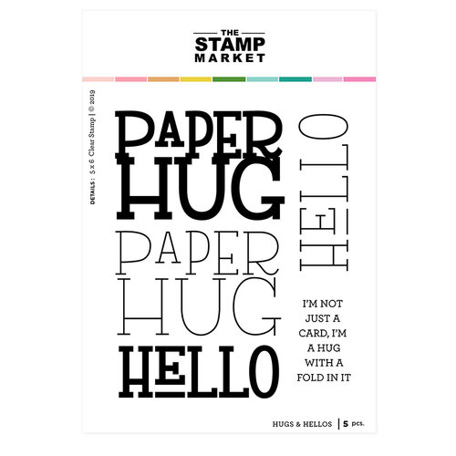 The Stamp Market - Clear Photopolymer Stamps - Hugs & Hellos
