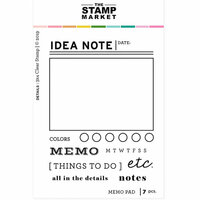 The Stamp Market - Clear Photopolymer Stamps - Memo Pad