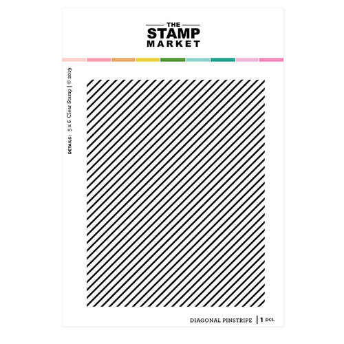 The Stamp Market - Clear Photopolymer Stamps - Diagonal Pinstripe