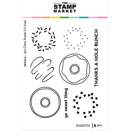 The Stamp Market - Clear Photopolymer Stamps - Donuts