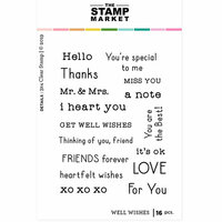 The Stamp Market - Clear Photopolymer Stamps - Well Wishes