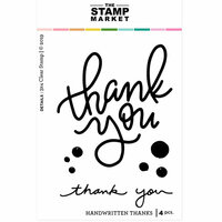 The Stamp Market - Clear Photopolymer Stamps - Handwritten Thanks