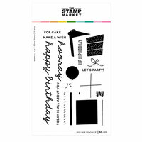 The Stamp Market - Clear Photopolymer Stamps - Hip Hip Hooray