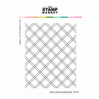The Stamp Market - Clear Photopolymer Stamps - Criss Cross Background