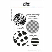 The Stamp Market - Clear Photopolymer Stamps - Circles and Sentiments