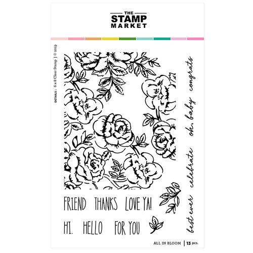 The Stamp Market - Clear Photopolymer Stamps - All in Bloom