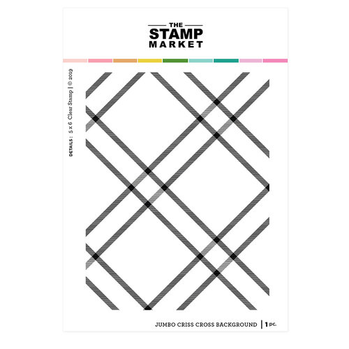 The Stamp Market - Clear Photopolymer Stamps - Jumbo Criss Cross Background