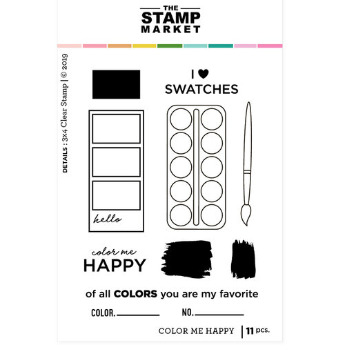 The Stamp Market - Clear Photopolymer Stamps - Color Me Happy