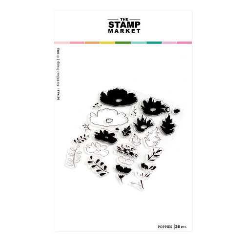 The Stamp Market - Clear Photopolymer Stamps - Poppy