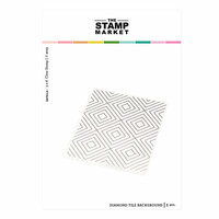 The Stamp Market - Clear Photopolymer Stamps - Diamond Tile Background