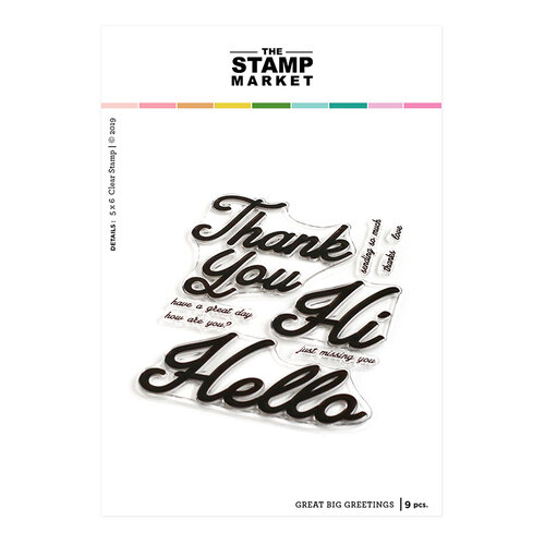 The Stamp Market - Clear Photopolymer Stamps - Great Big Greetings