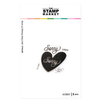The Stamp Market - Clear Photopolymer Stamps - Sorry