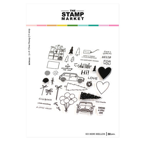 The Stamp Market - Clear Photopolymer Stamps - So Mini Hellos