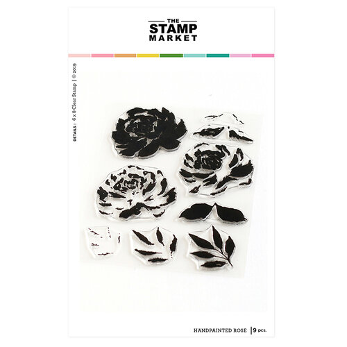 The Stamp Market - Clear Photopolymer Stamps - Handpainted Rose