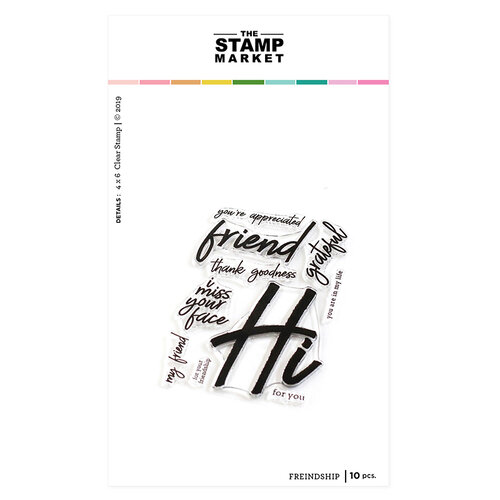 The Stamp Market - Clear Photopolymer Stamps - Friendship