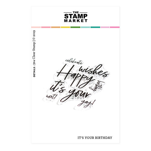 The Stamp Market - Clear Photopolymer Stamps - It's Your Birthday